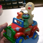 Vintage ILLCO Sesame Street wind up Jalopy Car
